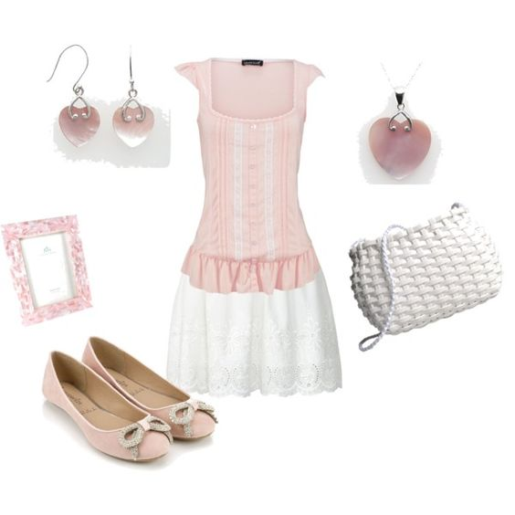 """Pink and White"" by tara-nitti on Polyvore"