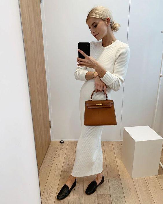 szafa kapsułowa na 2021 rok - domowa sukienka