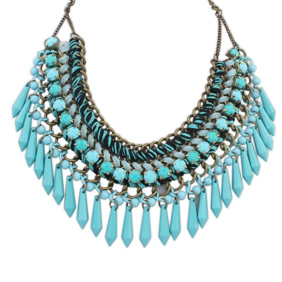 US $ 2 - 3.19 / piece x 12 pieces # Yiwu Joyzeal [US $ 2.61 - 3.96 / piece x 12 pieces # Milun http://milunjewelry.en.alibaba.com/product/60331439119-801774459/2015_New_Design_Bohemia_Statement_Necklace_Pendants_Hand_Knitting_Fashion_Choker_Collar_Necklace.html]