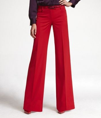 Red pants, Pants and Wide legs on Pinterest