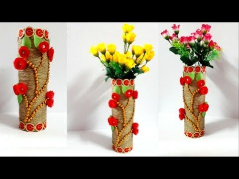 Youtube Flower Vase Diy Diy Flower Pots Diy Flowers