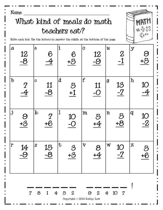 1st grade math worksheets pdf