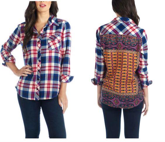 Tolani flannel shirt