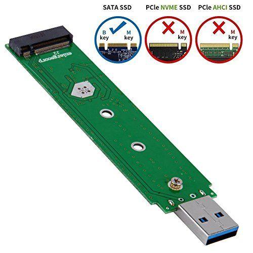 USB-C M.2 NGFF Hard Drive Enclosure B Key SATA SSD Reader to USB 3.0 Adapter