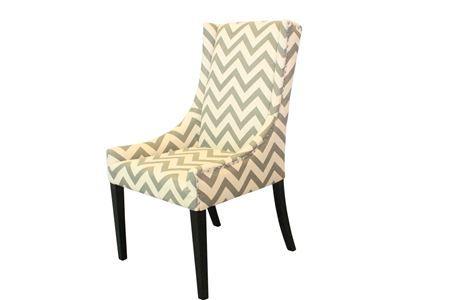*Chevron Chair Grey & White - House & Garden - $249
