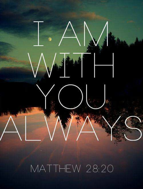 Matthew 28 20- yes Jesus is always with everyone who believes in him.