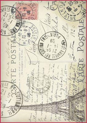 Vintage Postcard ~ Manufaktura Dobrych Klimatów - Papiery do decoupage: