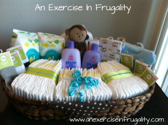 Make a great baby shower gift basket on a budget! Put to gether a useful gift for mom and baby without spending a ton or looking cheap!