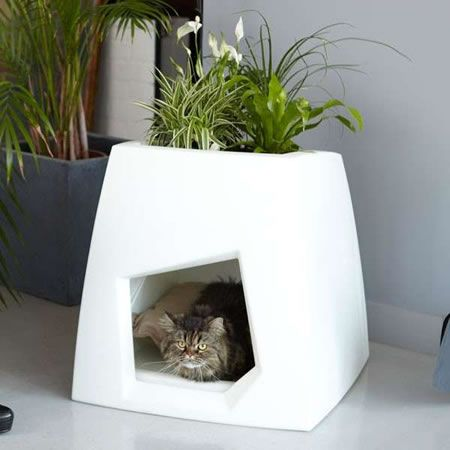 Nature Green Pets House with Planters
