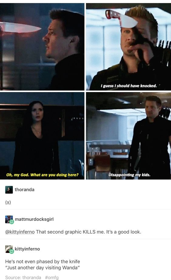 No though. Think about it. So many of the avengers have ptsd or ptsd-like symptoms. Wanda almost certainly has some sort of issues from the Hell she's gone through and from losing her twin. She's going to panic at unidentified people appearing in her home. But can you imagine what goes through her mind? My poor Wanda