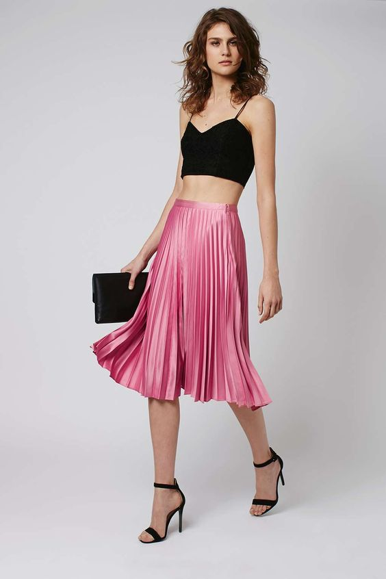 Midi skirts, Satin and Skirts on Pinterest