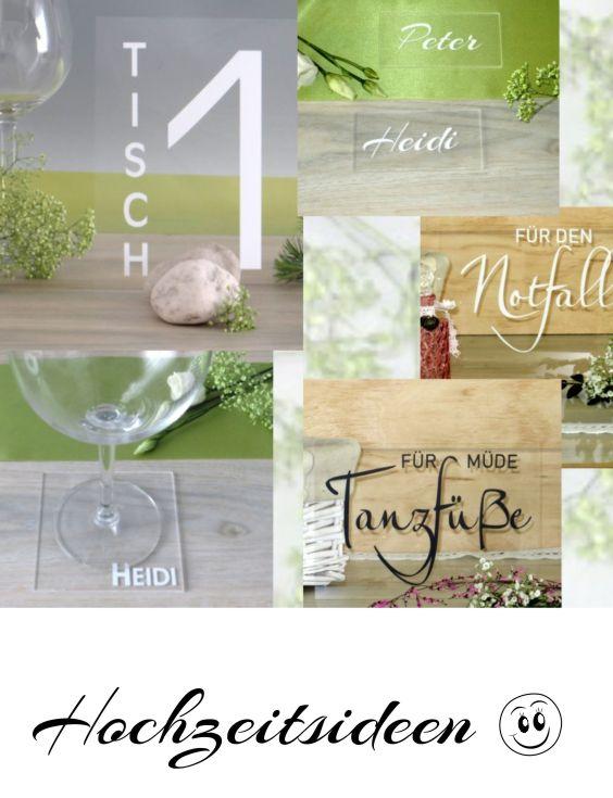 Acrylschilder Und Deko Fur Die Hochzeit Modern Und Trendy Ist Das Transparente Material Individuell Fu Platzkartenhalter Tischkarten