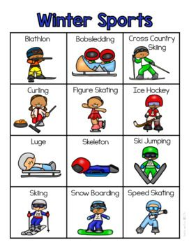 Winter Sports Vocabulary