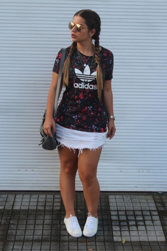 looks-com-camiseta-esportiva-adidas-tendencia: