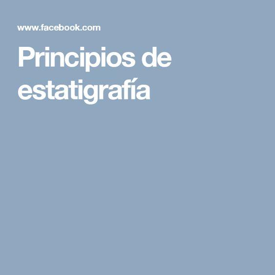 Principios de estatigrafía