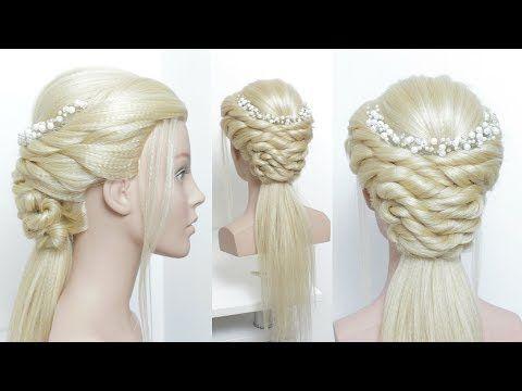 Half Up Half Down Updo For Prom Hair Tutorial Youtube Long Hair Tutorial Easy Party Hairstyles Hair Tutorial