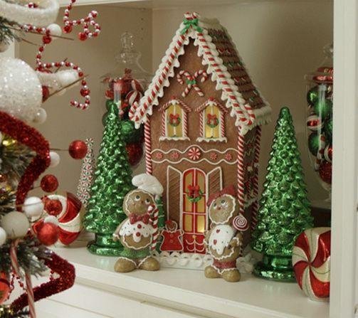 Mercury Glass Kaleidoscope Light Show 16 Tree By Valerie Qvc Com Gingerbread Christmas Decor Christmas Table Decorations Diy Christmas Home