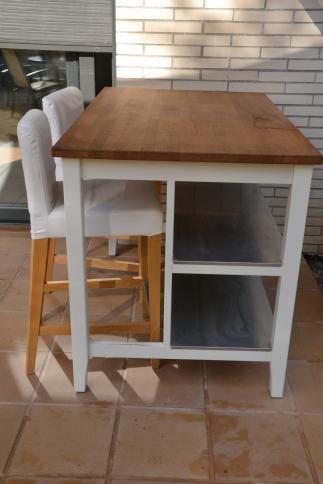 se vende isla blanco roble ikeasegundamano serie. Black Bedroom Furniture Sets. Home Design Ideas