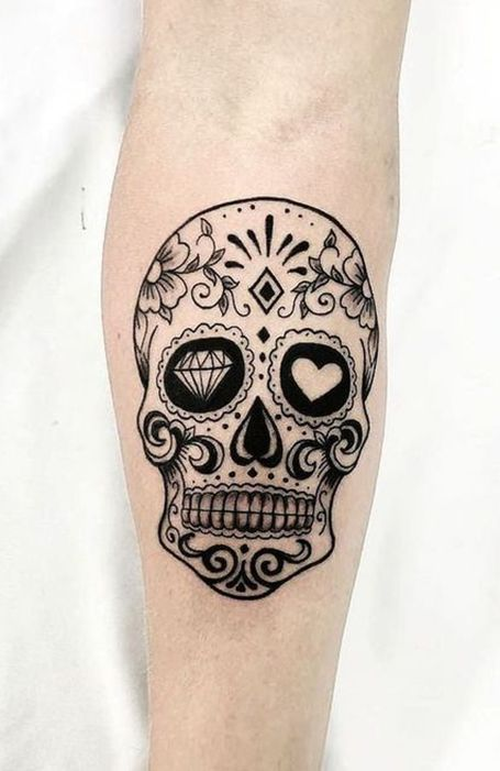 30 Badass Skull Tattoo Designs In 2020 Candy Skull Tattoo Mexican Skull Tattoos Small Skull Tattoo