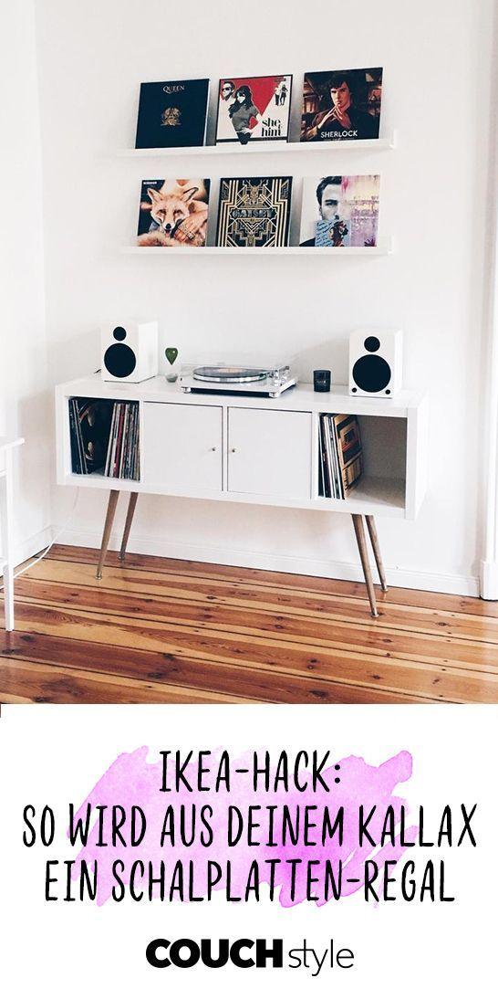 Vinyl Love Ikea Hack So Wird Aus Deinem Kallax Regal Eine Coole Aufbewahrungsmoglichkeit Fur Schallplatten Und De Ikea Diy Diy Ikea Hacks Diy Hanging Shelves