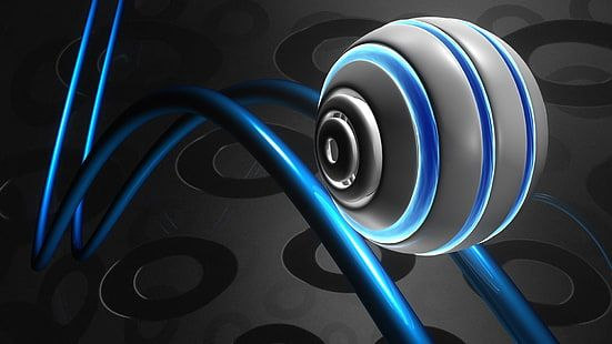 Blue And Black Beats By Dr 3d Sphere Render Balls Abstract Hd Wallpaper Animated Wallpaper For Pc Wallpaper Pc Animated Christmas Wallpaper