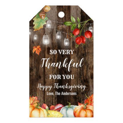 Thanksgiving Gift Tags Zazzle Com In 2020 Thanksgiving Gift Tags Thanksgiving Gifts Custom Holiday Card
