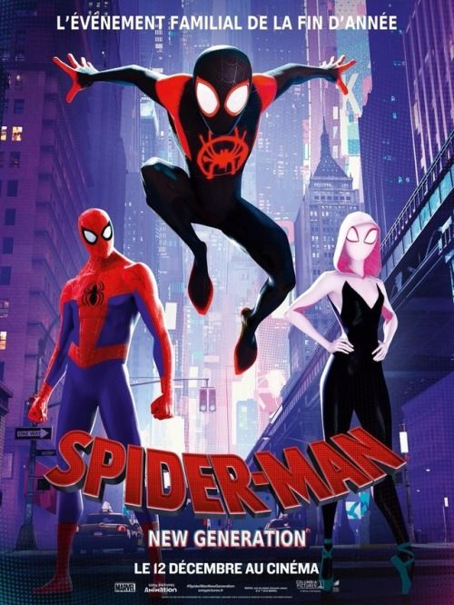 Spider Man Into The Spider Verse Streaming : spider, verse, streaming, Spider-Man:, Spider-Verse, French, Poster, Spiderman,, Spider, Verse,, Animated, Movie, Posters