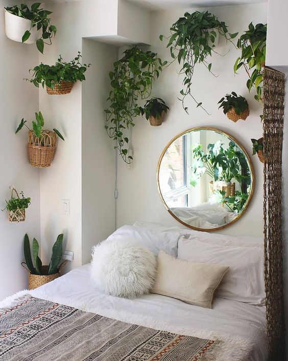 use a mirror to decorate your bedroom space