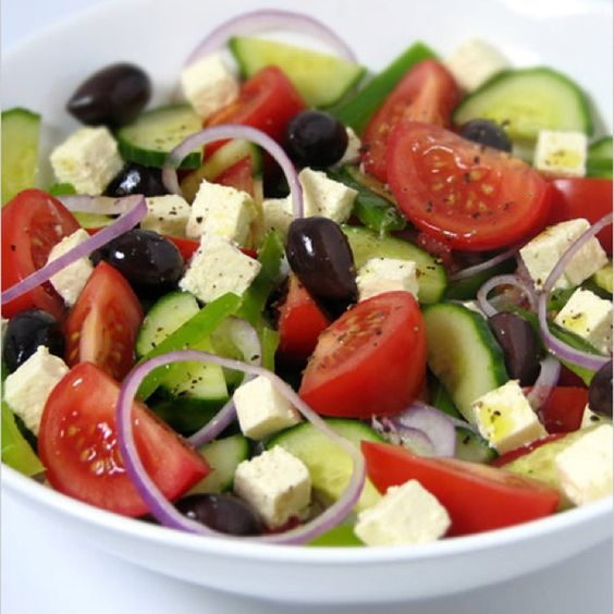 Greek salad, Salads and To be on Pinterest