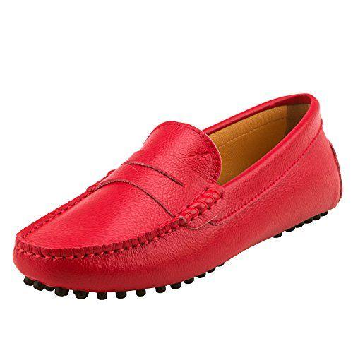 Chaussures bateau /& de ville confort D7052 Loafers multicolore Shenduo Classic Mocassins femme cuir
