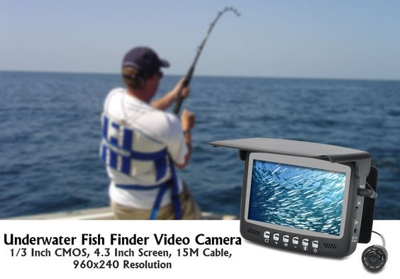 Underwater Fish Finder Video Camera 4.3 Inch Screen 15M Cable 960x240 Resolution
