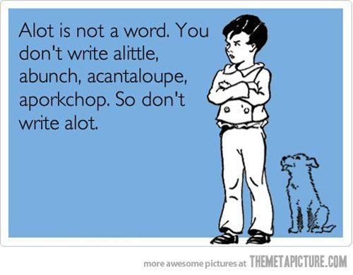 It is not a word…