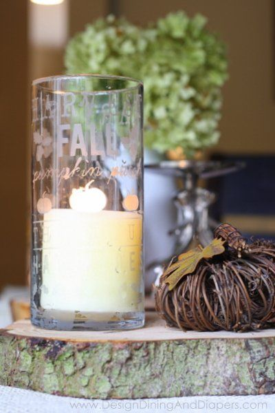 Etched Glass Candle Holder Tutorial