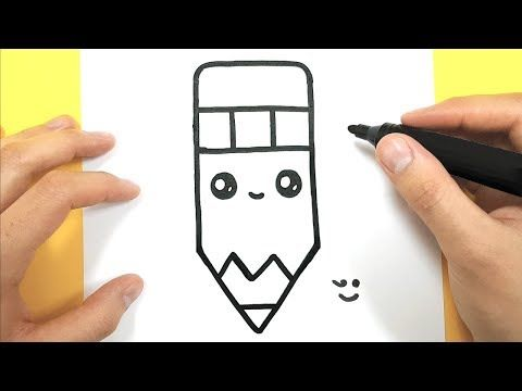 Come Disegnare Una Matita Kawaii Youtube Dessin Kawaii Idees