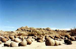 Cancha de bochas Valle de la Luna Ischigualasto