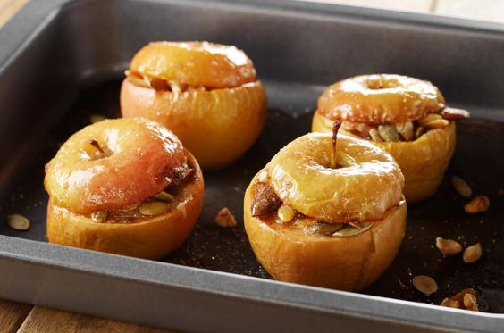 Delicious baked apple