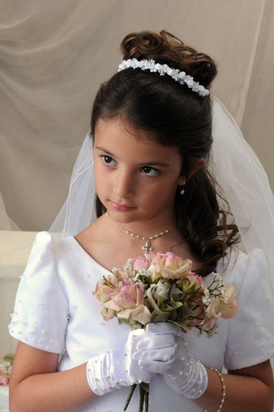 Superb Her Hair Beautiful And First Communion Hairstyles On Pinterest Short Hairstyles For Black Women Fulllsitofus