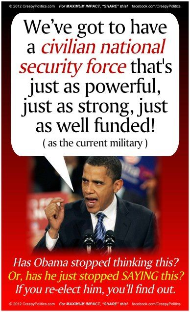 Obama quote.....is this why his administration is buying up so many bullets????