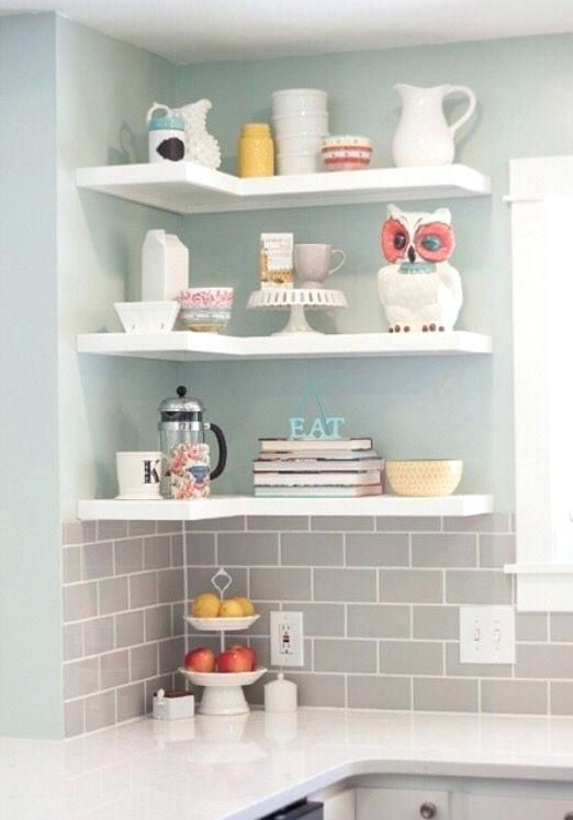 L Shaped Corner Shelves Corner Floating Shelves White Large Size Best Corner Shelves Kit Trendy Kitchen Backsplash Kitchen Remodel Small Corner Shelves Kitchen