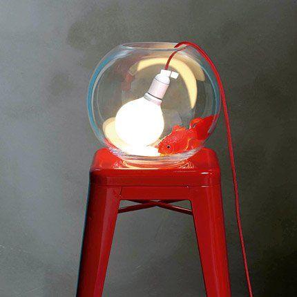 #DIY : 1 vase or fish bowl, 1 energy-saving lightbulb (to avoid over heat), 1 flex/cord, 1 socket.