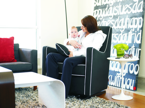 We love the sharp, clean lines in this modern Luca rocker from @montedesigns! #PNapproved