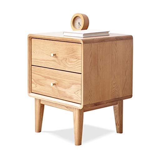 Nightstands Wooden Bedside Table Bedroom Dressing Table Double Drawer Open Classification L Bedside Table Storage Bedroom Storage Cabinets Wooden Bedside Table