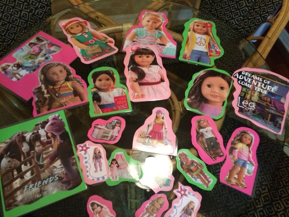 Cut from magazine and laminated for American Girl decorations