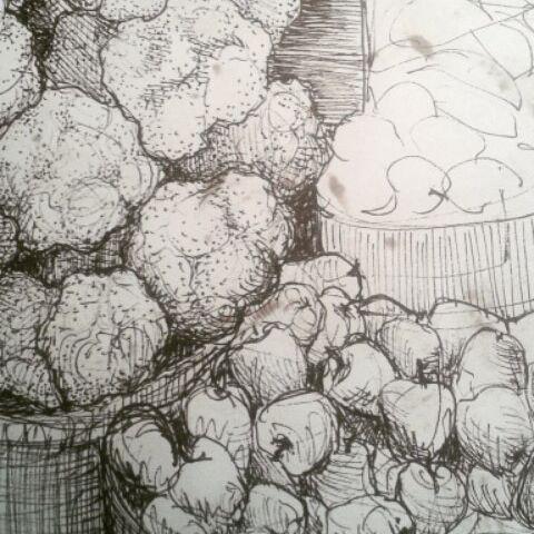 En la feria... #sketchbook #drawings