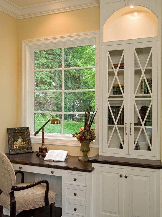 Built in desk kitchen desks and cabinet design on pinterest for Built in desk in kitchen ideas