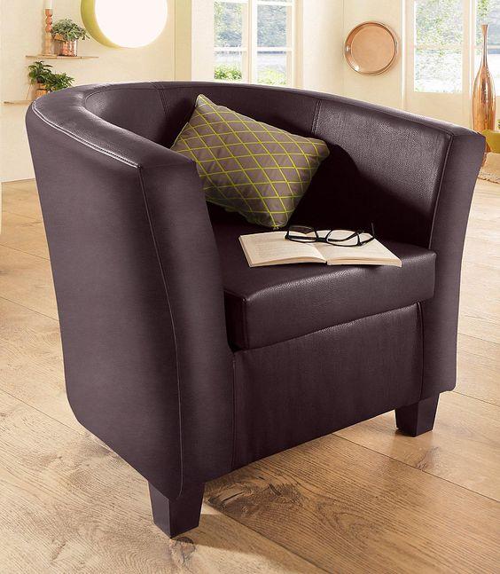 Für das gewisse Etwas: Der moderne Sessel »Charmey« von Home affaire beeindruckt mit schickem Design und setzt trendige Akzente im Wohnzimmer