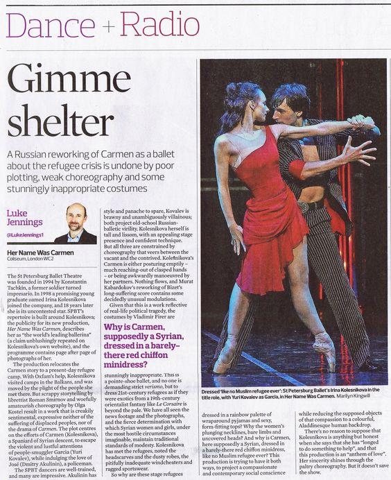 The Observer - Gimme shelter. Her Name Was Carmen