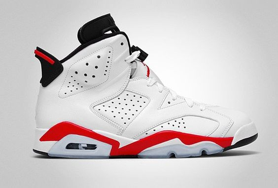 """Air Jordan 6 """"White Infrared"""" Release date: March, 2014  Source: Sneakers Addict"""