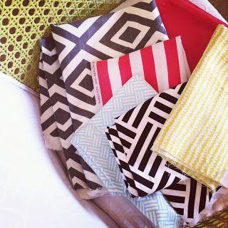 sarah m. dorsey designs: 10 minute pillow shams for the Living Room