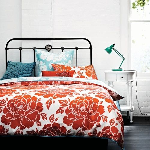 Orange Bedding, Bedding And Teal Accents On Pinterest